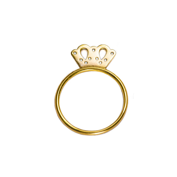 Princess Crown Gold Ring