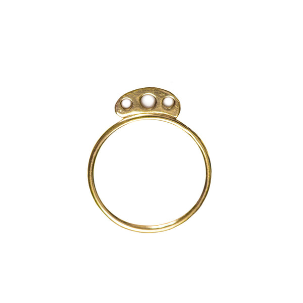 Four Circles Gold Ring