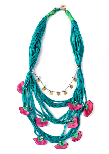 Turqouise Silk Necklace II
