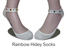 Load image into Gallery viewer, Youth Hidey Socks - With Swarovski Crystals - Hidey Style