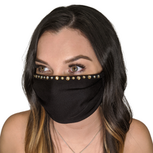 Load image into Gallery viewer, Hidey Face Mask with genuine Swarovski crystals - Hidey Style