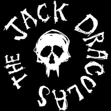 "The Jack Draculas ""Fang Skull"" circular logo design by Timothy O'Connell."