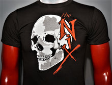 """Silver Skull"" logo for the Nix; small t-shirt on mannequin. Design by Timothy O'Connell."