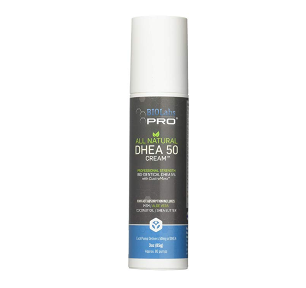 All Natural Bioidentical 50 Mg DHEA Performance Cream - Two Month Supply