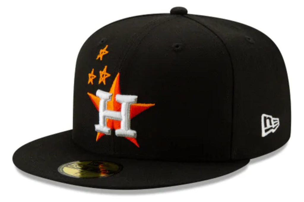 TRAVIS SCOTT X HOUSTON ASTROS 59FIFTY FITTED HAT BLACK