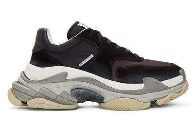 BALENCIAGA TRIPLE S BLACK/BURGUNDY