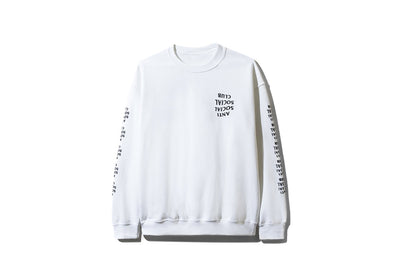 ANTI SOCIAL SOCIAL CLUB BLACKED OUT WHITE LONG SLEEVE TEE