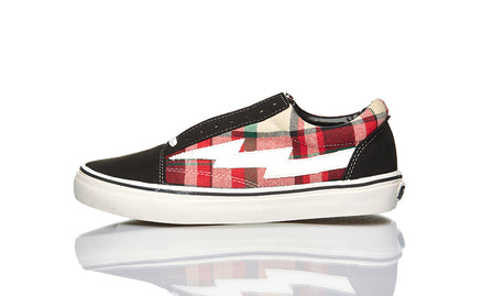 REVENGE X STORM LOW TOP BLACK/PLAID