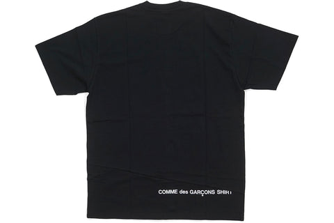 SUPREME x CDG SPLIT BOX LOGO TEE BLACK