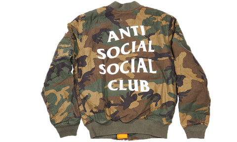 ANTI SOCIAL SOCIAL CLUB SR22 BOMBER JACKET