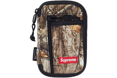 SUPREME SMALL ZIP POUCH/WALLET REAL TREE CAMO
