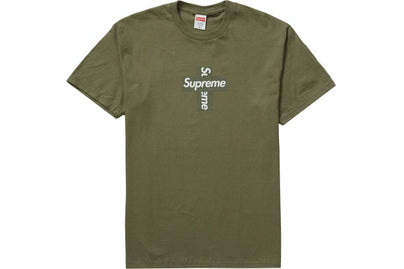 SUPREME CROSS BOX LOGO TEE LIGHT OLIVE