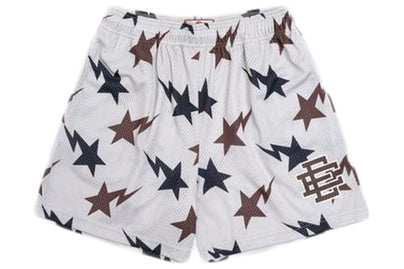 ERIC EMANUEL X BAPE EE BASIC SHORT CREAM/BROWN/NAVY