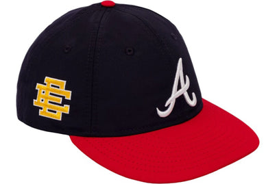ERIC EMANUEL EE RETRO CROWN BRAVES HAT NAVY/RED/YELLOW