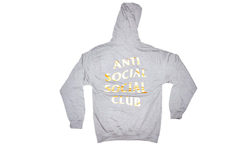 ANTI SOCIAL SOCIAL CLUB GREY/GOLD HOODIE