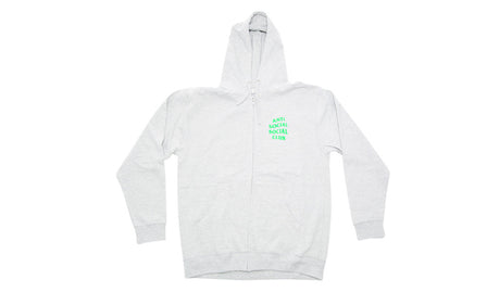 ANTI SOCIAL SOCIAL CLUB GREY/ELECTRIC GREEN ZIP UP