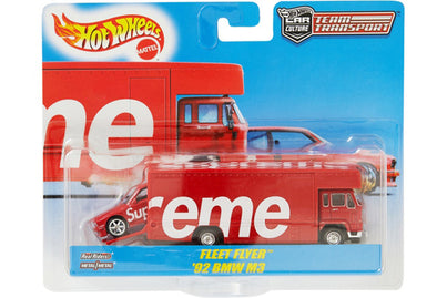 SUPREME HOT WHEELS FLEET FLYER + 1992 BMW M3 RED