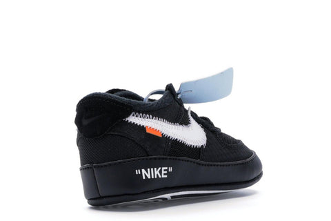 NIKE OFF WHITE AIR FORCE 1 LOW BLACK (I)