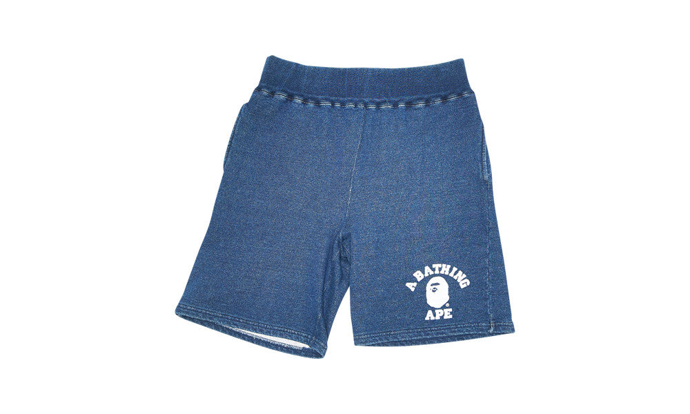 BAPE INDIGO SWEAT SHORTS