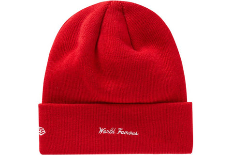 SUPREME NEW ERA BANDANA BOX LOGO BEANIE RED