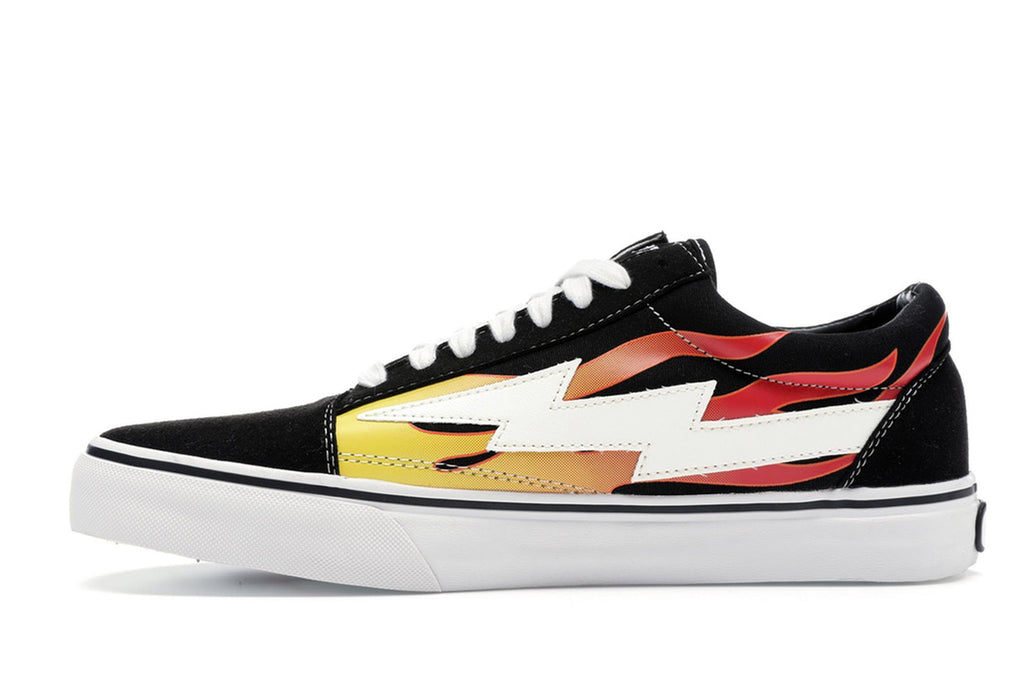 REVENGE X STORM LOW TOP BLACK FLAMES
