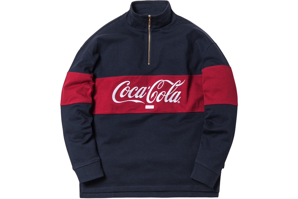 KITH x COKE QUARTER-ZIP RUGBY NAVY