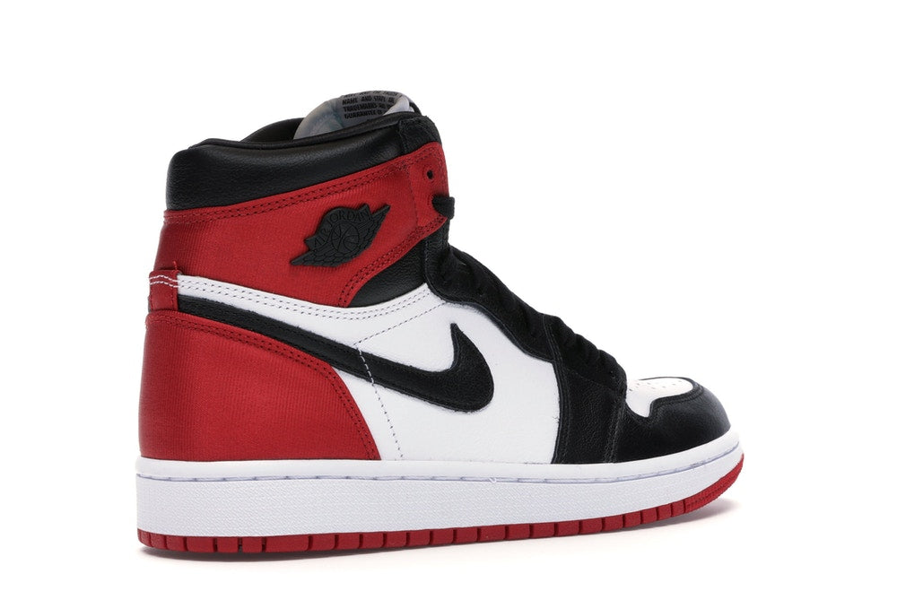 the best attitude c47bb 2fc1d AIR JORDAN 1 SATIN BLACK TOE (WOMENS)