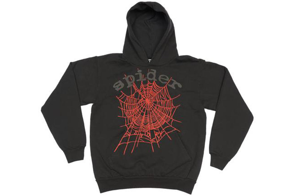 YOUNG THUG KING SPIDER BLACK WEB HOODIE