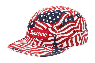SUPREME WASHED CHINO TWILL CAMP CAP (SS20) FLAGS