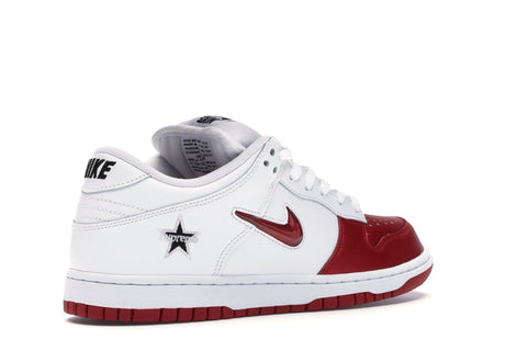 NIKE SB DUNK LOW SUPREME JEWEL SWOOSH RED