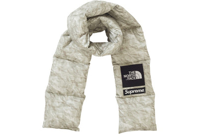SUPREME THE NORTH FACE PAPER PRINT 700-FILL DOWN SCARF