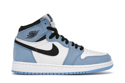 AIR JORDAN 1 RETRO HIGH WHITE UNIVERSITY BLUE BLACK (GS)