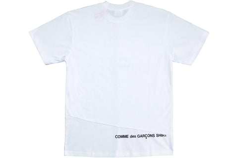 SUPREME x CDG SPLIT BOX LOGO TEE WHITE