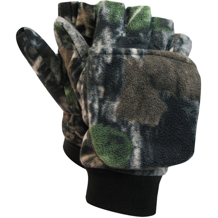 Polar fleece glove-mitt - Black Safety Pearl