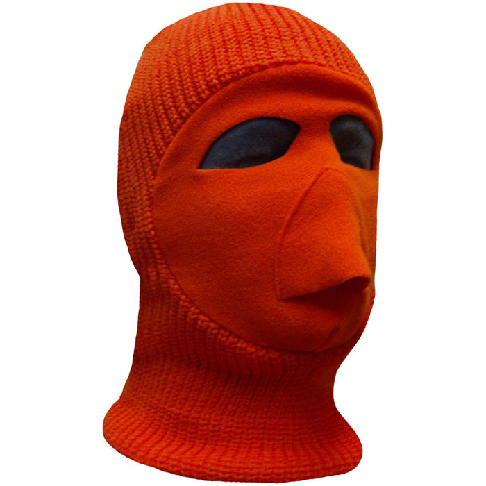 Fluorescent orange balaclava