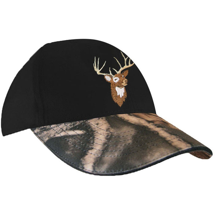 Cap with deer embroidery - Black Safety Pearl