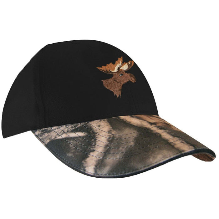 Cap with moose embroidery - Black Safety Pearl