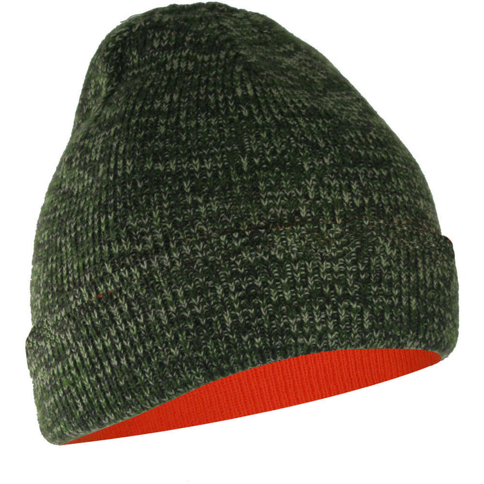 TUQUE CAMOUFLAGE RÉVERSIBLE ORANGE FLUORESCENT - Black Safety Pearl