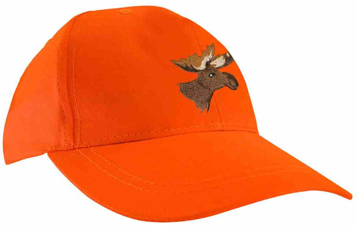 Fluorescent orange cap with moose embroidery - Black Safety Pearl