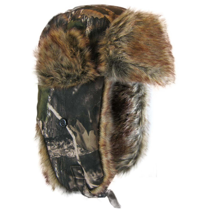 Camouflage fur hat - Black Safety Pearl