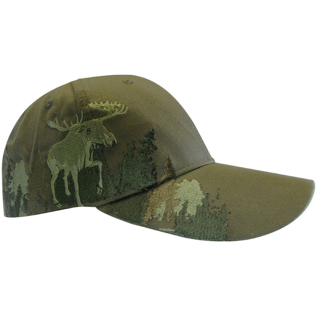 Hunting cap with animal embroidery on the side - Black Safety Pearl