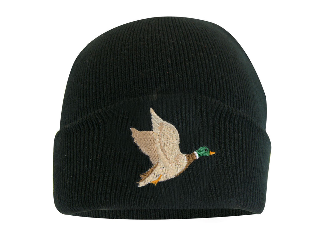 TUQUE DOUBLÉE THERMAKEEPER AVEC BRODERIE D'ANIMAL - Black Safety Pearl