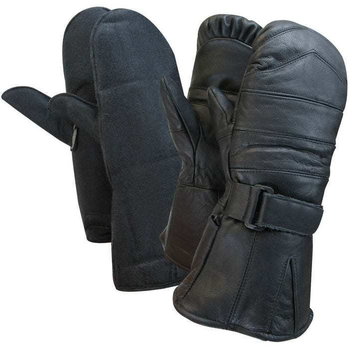 Snowmobile mitts with 2 removable liners