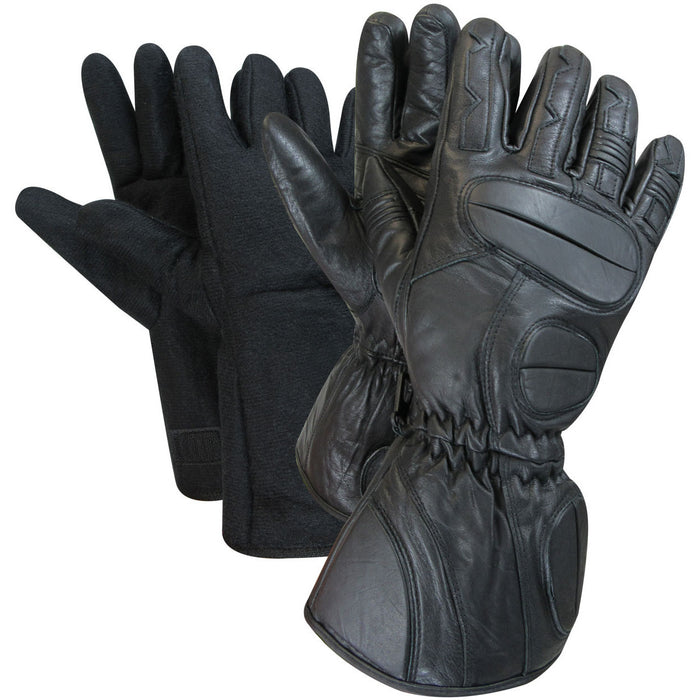 Snowmobile gloves with 2 removable liners - Black Safety Pearl