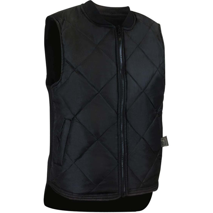 REVERSIBLE QUILTED VEST - Black Safety Pearl