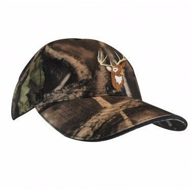 Hunting cap with deer embroidery - Black Safety Pearl