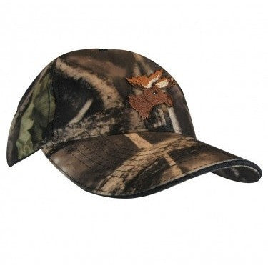 Hunting cap with moose embroidery