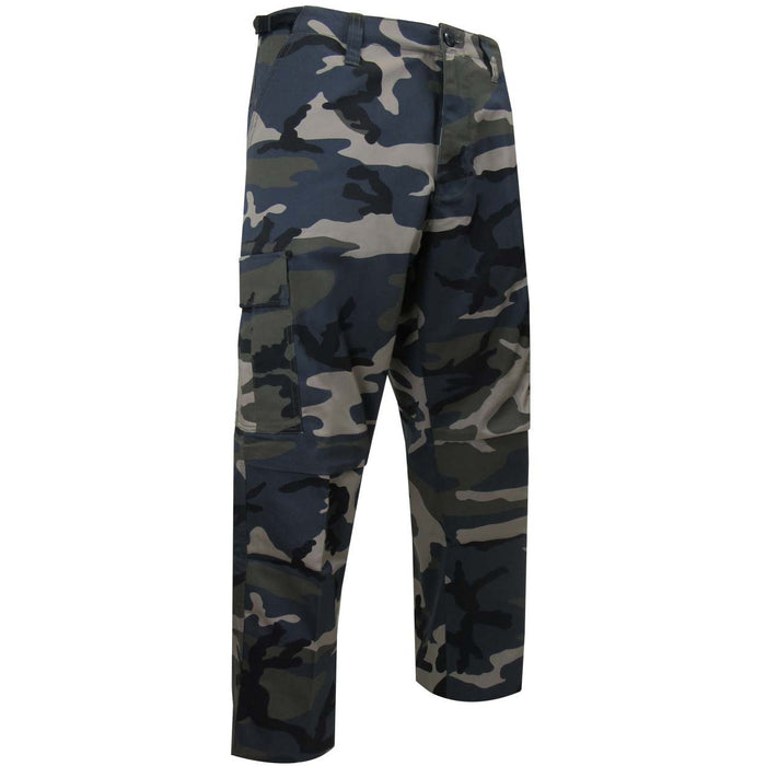 FLEECE LINED CAMOUFLAGE PANTS - Black Safety Pearl