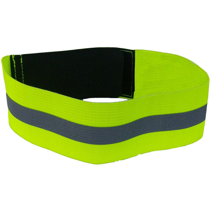 19 INCHES FLUORESCENT ELASTIC ARM BAND - Black Safety Pearl