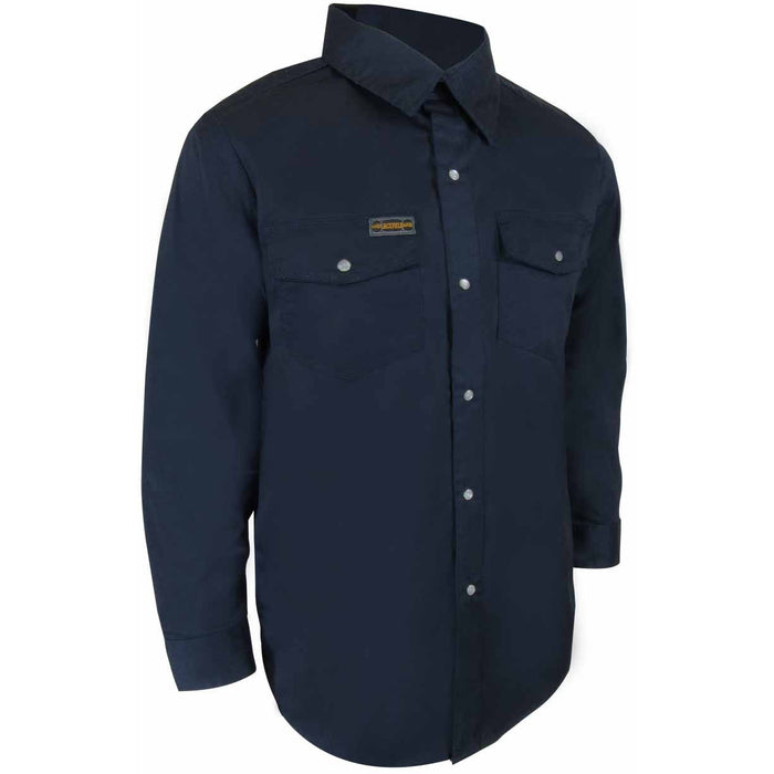 UNLINED LONG SLEEVE SHIRT WITH RUSTPROOF SNAPS - Black Safety Pearl